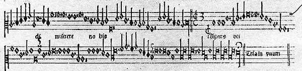 Proporcional del canon de Josquin